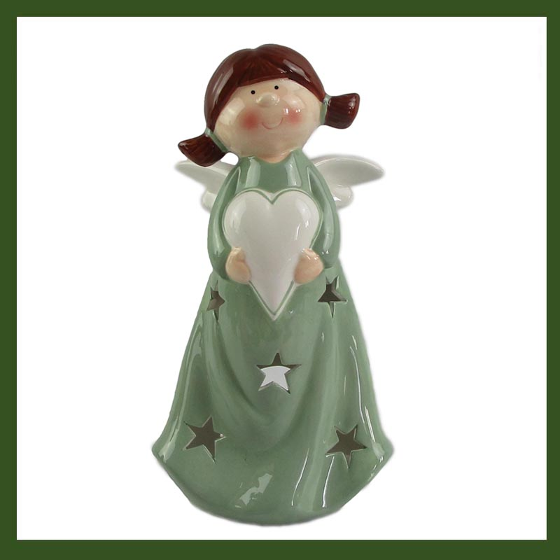 Christmas decorations Angel with tealight candle holder
