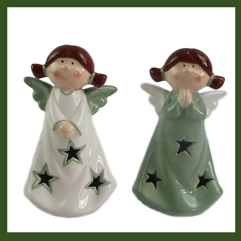 Porcelain angel gift and crafts decoration, Indoor Angel candle holder