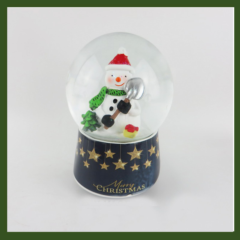 Hot selling christmas water ball with snowman for home decoration